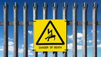 Sign reading Warning Danger of Death