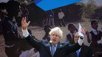 Boris Johnson in India