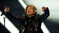 Sir Mick Jagger on stage in New York during the Rolling Stones' 50 And Counting tour