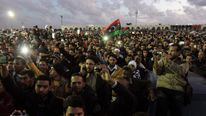 Protesters in Benghazi