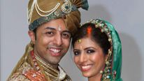 Shrien Dewani, 31, with his wife Anni, who he is accused of hiring a hitman to kill.