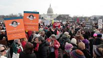 Thousands march on the Capitol for gun control