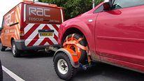 RAC van rescues a motorist