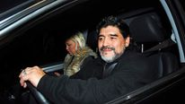 Diego Maradona and his girlfriend Veronica Ojeda in Buenos Aires