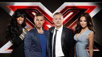 X Factor judges Kelly Rowland, Gary Barlow, Louis Walsh, Tulisa Contostavlos