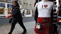 A shopper in Edinburgh, Scotland