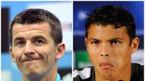 Footballers Joey Barton and Thiago Silva
