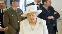 Queen Elizabeth II visiting Headley Court Defence Medical Rehabilitation