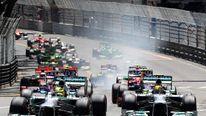 Start of Monaco Grand Prix