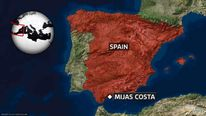 Map of Mijas Costa In Spain