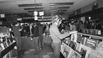 Inside HMV Music Store. December 1973