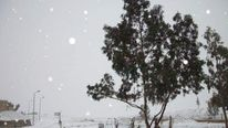 Snow in the Sinai peninsula in Egypt