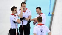 TB GB's men's curling team look glum