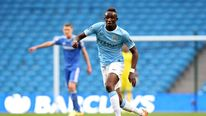 Seko Fofana of Manchester City during the Barclays U21 Premier League match between Manchester City U21 and Chelsea U21 at Etihad Stadium.