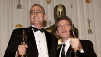 Mike Hopkins (L) and Ethan Van der Ryn won sound editing Oscars for King Kong in 2006