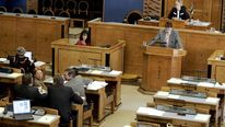 Estonian MPs meet at parliament in Talli