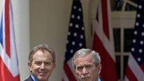 Bush and Blair shaking hands