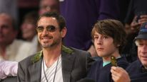 Robert Downey Jr. (L) and his son Indio Downe