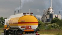 FUEL shell oil tanker