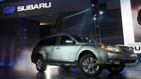 The 2010 Subaru Outback rolls out at the