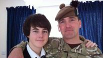 Captain Walter Barrie with his son Callum