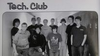 Gunman Adam Lanza (third from right) in his high school yearbook