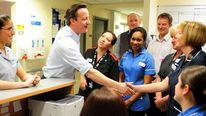 David Cameron at the Royal Derby Hospital