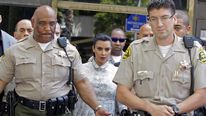 Kim Kardashian leaves court on Friday