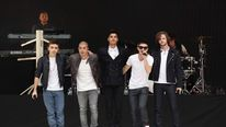 The Wanted onstage at the Capital FM Summertime Ball at Wembley Stadium