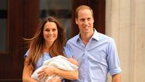 Duke and Duchess of Cambridge leave hospital with their baby son