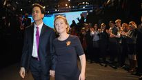 Ed Miliband and wife Justine at the Labour conference in 2012