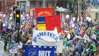 Teachers strike Bristol March