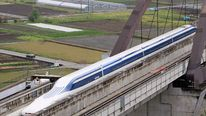 Maglev train under trial