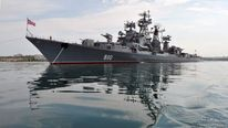A warship from Russia's Black Sea Fleet