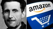 George Orwell / Amazon logo