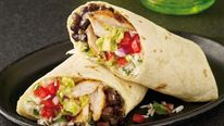 Burritos made by fast-food chain Chilango