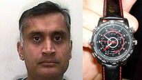Dr Davinderjit Bains and his 007-style wristwatch