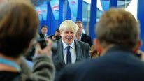 Boris Johnson's arrival