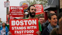 Fast-Food Workers On Strike
