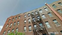 Google Street view - boy tossed from apartment building roof in Bronx, New York City