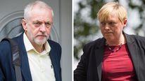 Jeremy Corbyn and Angela Eagle