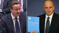 David Cameron and Lord Leveson