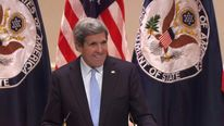 John Kerry speaking as United States Secretary of State