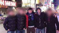 Dias Kadyrbayev (L) and Dzhokhar Tsarnaev (R)