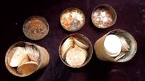 Gold Coins In Canisters