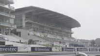 Heavy rain hits Epsom Racecourse before Derby