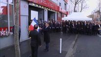 Francois Hollande at the remembrance ceremony