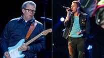 Eric Clapton and Chris Martin