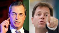 Nigel Farage and Nick Clegg