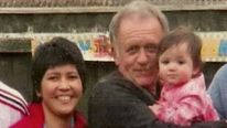 Colin Bembridge with his his Filipino partner Maybelle, 35, and their three-year-old daughter Victoria (pic: Channel 4)